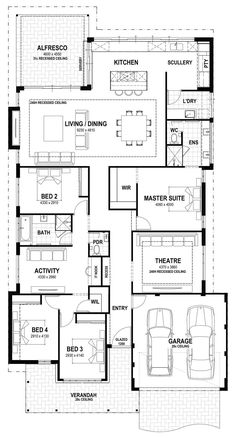 Grove – Lot 3 Gooljak Rise floorplan - All About Balcony House Layout Plans, Family House Plans, Bedroom House Plans, Dream House Plans, House Layouts, House Floor Plans, Dream Houses, Home Design Floor Plans, Dream Home Design