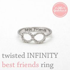 twisted INFINITY - best friends ring