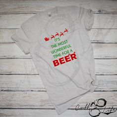 It's The Most Wonderful Time For A Beer - Boyfriend Fit V-Neck Tee