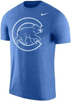Nike Men's Royal Chicago Cubs Logo Touch Performance T-Shirt