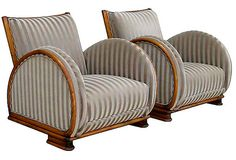 1930s Art Deco Club Chairs