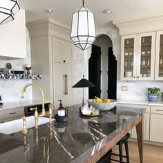 """Stephenie Watts on Instagram: """"Guess what? Our faucet came in polished nickel!! It was sanded down to the brass finish and I (yes, me!) did all the detail work with a…"""" Beautiful Dream, Polished Nickel, Faucet, Brass, Dream Kitchens, Inspiration, Detail, Home Decor, Instagram"""