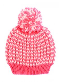 1a27d7719c5 Brighten up her collection of seasonal accessories with this older girls   two tone yarn hat. Girls Winter HatsCute ...