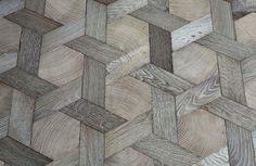 Basket weave wood floor from Atelier des Granges   Remodelista