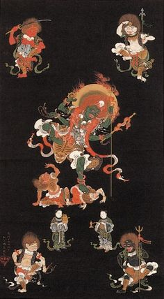 Sakai Hoitsu(酒井抱一 Japanese, 1761-1828) 青面金剛像