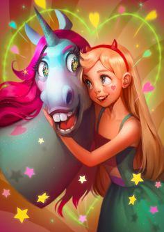 I am a big fan of Star vs the Forces of Evil. Here is my fan art of Star and Pony Head Hope you like it. More Star Yeah, I know it's too la. My Bestie Cute Disney, Disney Art, Disney Drawings, Cute Drawings, Princess Star, Book Art, Little Poney, Fantasy Paintings, Digital Paintings