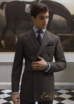 Slim Grey Double Breasted Suit (JL)