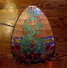 Test fit pattern pieces to form to make sure they fit correctly Stained Glass Lamps, Stained Glass Projects, Tiffany, Diy Tutorial, Floor Lamp, Tutorials, Crafty, Patterns, Fit