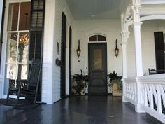 This one of a kind completely renovated 1880 historic home offers study with builtins, massive formal dining room features fireplace and heart pine flooring. Master suite with ample closet space… Porch Fireplace, Black Fireplace, Victorian Homes Exterior, Victorian Houses, Small Farmhouse Sink, Porch Paint, Heart Pine Flooring, Small Porches, Porch Flooring