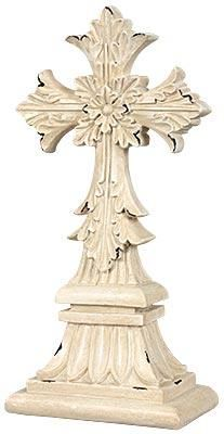 #Antique #Cream Tabletop #Cross. #gifts #homedecor