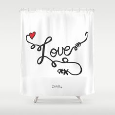 All You Need Is... Shower Curtain by Chelsea Perry