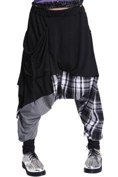 patchy harem pants| free shipping!  pastel goth nu goth punk goth visual kei fachin pants harem pants bottoms under20 under30 free shipping zaful
