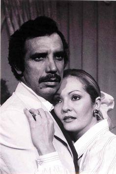 Doris Wells y Miguel Angel Landa en la telenovela La señora de Cardenas de RCTV, años 70s