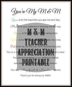 Teacher Appreciation Gift Printable Free - Domestically Speaking