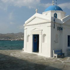A small church at the port. #port #sea #church #Greece #Mykonos #island  #greecestagram #travel #traveling #travelgram #instagood #instago #instatravel #igtravel #travelphotography #world #holidayapp #holiday #destination #vacation #readysetholidayapp #readysetholiday  Credits: Elias Bizannes on Flickr