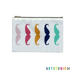 Mustache  Pink Green Orange Blue on a Pouch Make Up by artstudio54, $10.00  https://www.etsy.com/listing/161116627/mustache-pink-green-orange-blue-on-a?ref=sr_gallery_27&ga_search_query=green%2C+black%2C+blue+fabric&ga_view_type=gallery&ga_page=6&ga_search_type=all