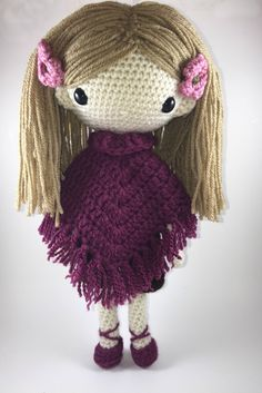 Lydia Amigurumi Doll Crochet Pattern PDF by CarmenRent on Etsy