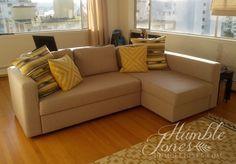 Reupholster Manstad sofa bed idea