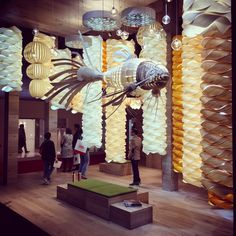 Wood touched by light. awesome installation at Lighting Design, Wood, Awesome, Interior, Instagram Posts, Home Decor, Light Design, Decoration Home, Woodwind Instrument