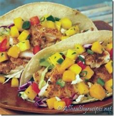 Authentically Baja Style Grilled Fish Tacos with Mango Salsa