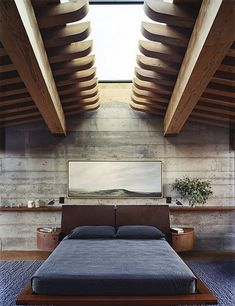 skylight above the bed