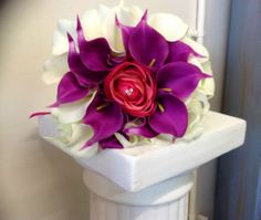 GORGEOUS HAND TIED BOUQUET OF ROSE AND CALLA LILIES IN YOUR COLOUR CHOICE | eBay