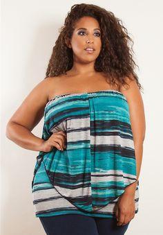 Plus Size Tops | Clarabelle Multi Wear Top | Swakdesigns.com