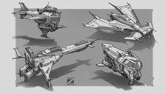 Aircraft  concept sketches-I, Z PZ on ArtStation at https://www.artstation.com/artwork/ENV82