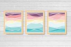 Abstract Ocean Art Three Prints Series Beach Waves Printable Wall Art Coastal Decor Ocean Printable Home Decor Instant Download Office Art