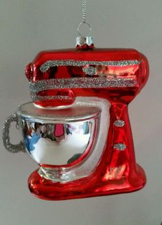 Kitchen Mixer Red Glass Christmas Ornament NWT #CelebrateIt