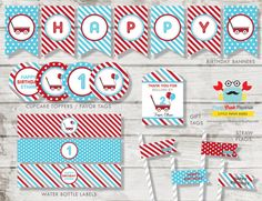 Red Wagon Party Package / Red Wagon DIY Party by PapaCrabPaperie