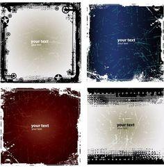 4 Grunge Vector Background Patterns - http://www.dawnbrushes.com/4-grunge-vector-background-patterns/