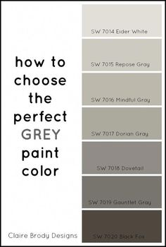 Repose Gray Vs Mindful Gray How To Choose The Perfect Grey Paint gray color vs grey - Gray Things Exterior Paint Colors, Exterior House Colors, Paint Colors For Home, Garage Paint Colors, Lowes Paint Colors, Indoor Paint Colors, Farmhouse Paint Colors, Wall Exterior, Grey Exterior