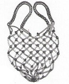 Macrame Bag, Macrame Knots, Net Making, Coral Aqua, Net Bag, Mesh Netting, Macrame Tutorial, Diy Accessories, Handmade Bags