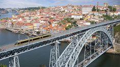 Dom Luis I Bridge in Porto, Portugal by alkir_vh Porto city view with Douro river and Dom Luis I bridge, Portugal