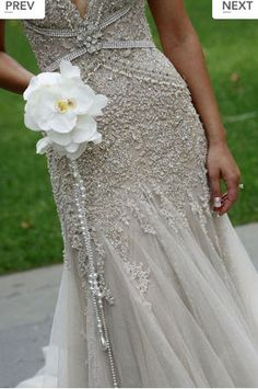 Not getting married again cause I met the man of my dreams, but this wedding dress is pretty!