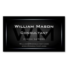 Classy Black Framed Monogram Professional Business Card Templates. Make your own business card with this great design. All you need is to add your info to this template. Click the image to try it out!