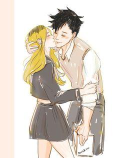 Image about cute in x Haikyuu! Haikyuu Genderbend, Haikyuu Anime, Kenma Kozume, Kuroken, Haikyuu Ships, Anime One, Hyena, Face Art, Pretty Boys