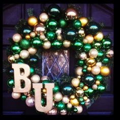 My very own #Baylor wreath for #Christmas! #baylorproud