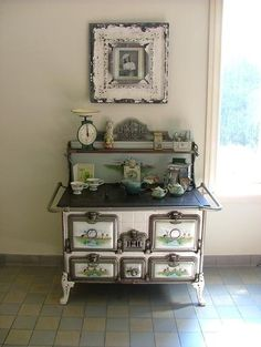 gorgeous antique cast iron stove
