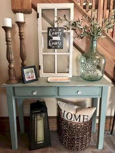 Stunning Farmhouse Entryway Decor Ideas (29)