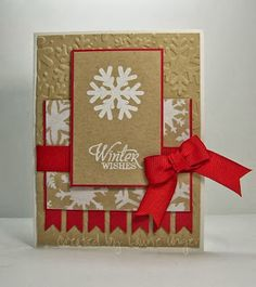 Laurie's Stampin Place: Mojo 315 - kraft, red and white