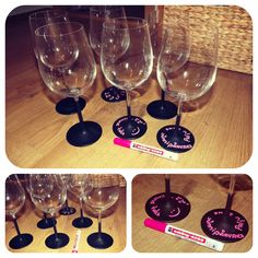 chalk painted glasses