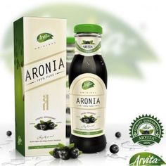 Arvita Aronia sok - Moja online Ljekarna Coner Happy Life, Are You Happy, Packaging Design, Berries, Good Things, Wine, Pure Products, Drinks, Bottle