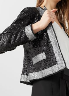 Sequin embroidered jacket | MANGO
