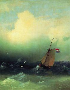 Буря на море 1847 53х44. Иван Константинович Айвазовский