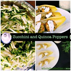 Zucchini and Quinoa Poppers