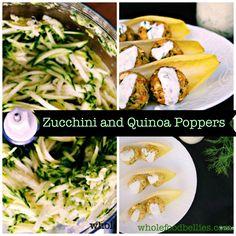 Zucchini and Quinoa Poppers