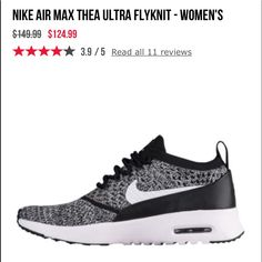 4ec5c0828f Nike Shoes | Nike Airmax Thea Ultra Flyknit | Color: Black/White | Size