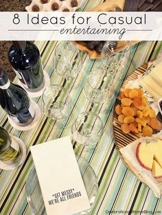 I'm sharing 8 ideas for casual entertaining, from what to serve to how to make it special. Find them here.